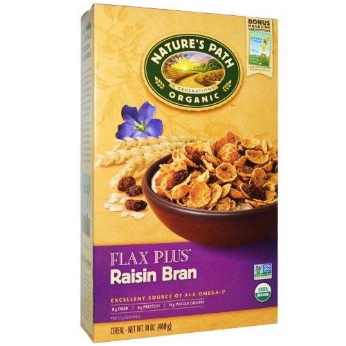 Natures Path Cereal Flax Plus Raisin Bran Organic 14 Ounce