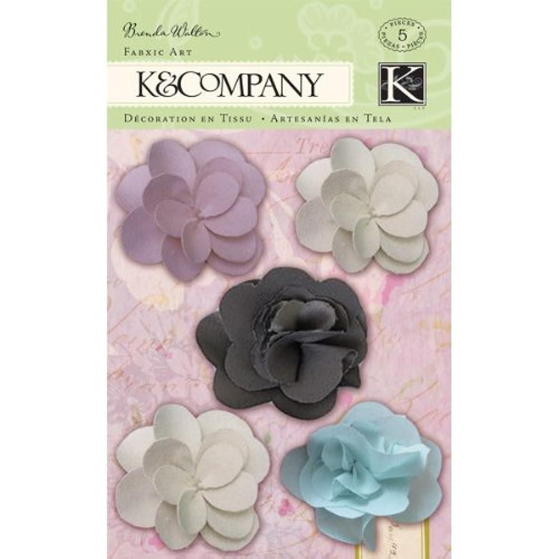 K&Company Brenda Walton Flora & Fauna Flower Fabric Art, Tulle