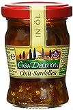 Casa Deliziosa Sardellenfilets in Sonnenblumenöl mit Chili Glas