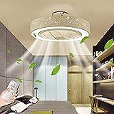 LED Ventilador De Techo Con Iluminación Regulable Con Ventilador De Control Remoto Luz De Techo Silenciosa Moderna Blanca Luz De Ventilador Para Dormitorio Habitación De Niños Sala De Estar Comedor