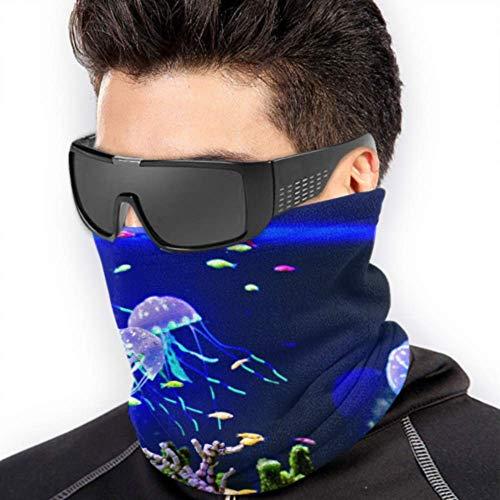 LONGYUU Unterwasserkorallenquallen Spaß Kopfbedeckungen Gesichtsmasken für Sonnenkostüm Kopfbedeckungen Multifunktions Für den Winter Kaltes Wetter Warmhalten Für Herren Damen