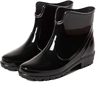MEIGUIshop Rain Boots - Casual rain Boots Ankle Boots Rubber Shoes