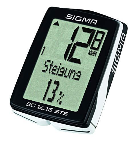 Sigma BC14.16 STS Altimetro Cadencia, Unixex adulto, Negro, talla única