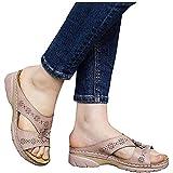 YCKZZR Sandalias De Cuña con Mulas para Mujer Zapatillas De Plataforma Antideslizantes De Cuero De Ocio Transpirable Zapatos Cómodos De Verano Sandalias De Diapositivas Abiertas,Rosado,41
