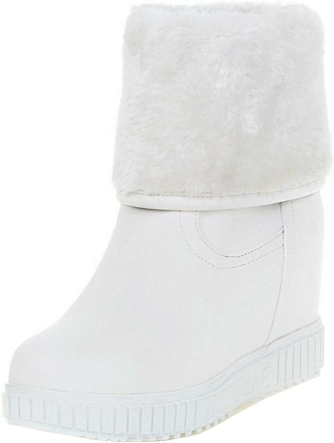 RizaBina Women Hidden Heel Boots Pull On