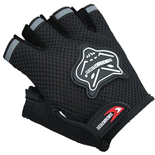 BXT Mädchen Jungs Halb Finger Fahrradhandschuhe Sport Gym Handschuhe Racing Mitts Anti Rutsch Gel Atmungsaktive Fingerlos Kinder Handschuhe für Mountain Road Fahrrad