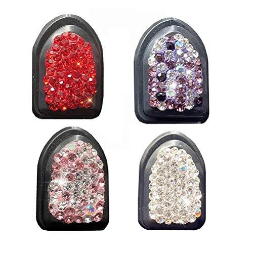 Gancho para Almacenamiento de automóvil, Gancho de Diamante para automóvil, Gancho Oculto del automóvil, Mini Accesorios para el Interior del automóvil, 4 Colores Blanco Rosa Púrpura Rojo