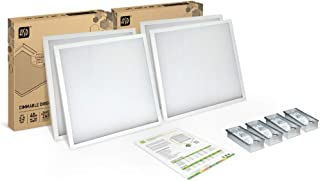 4-PACK ASD 2x2 LED Panel 40W Dimmable Direct-Lit 4000K (Bright light) Commercial Grade, UL Certified, DLC Listed