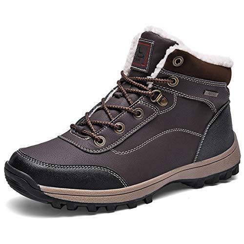Poerkan Winterstiefel Schneestiefel Herren Stiefelette Winterschuhe Warm Gefüttert Outdoor Snow Boots Waterproof Size 39-46