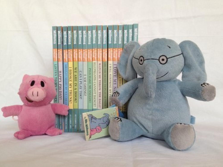 preferente Mo Willems Elephant and Piggie Piggie Piggie Complete Series and Plush Doll Book Set by YatJuguete Hyperion DBG  barato y de moda