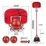 Yanan Portátil Aro De Baloncesto para Niños Junior Soporte De Baloncesto Altura Ajustable De Pie con Bola Y Bomba Juego Al Aire Libre En Interiores 3 Tamaños Opcionales