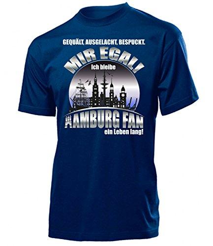 love-all-my-shirts Hamburg Fussball Motive zum auswählen Fanshirt Fan Artikel Männer Herren Tshirt Kapuzen Pullover Hoodie Pulli Tasse Kaffee Becher, T-shirt Navy Leben Lang, XL