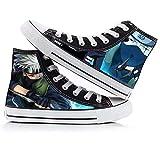 Csqw Zapatillas de Lona para Unisex para niños y Adolescentes Zapatillas de Cosplay Zapatillas de Lona Mujeres y Hombres Naruto High Gang, S-36