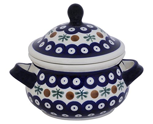 Bunzlauer Keramik Marmeladentopf/Suppentasse / Schmalztopf/Honigtopf, 0,75 Liter im Dekor 41
