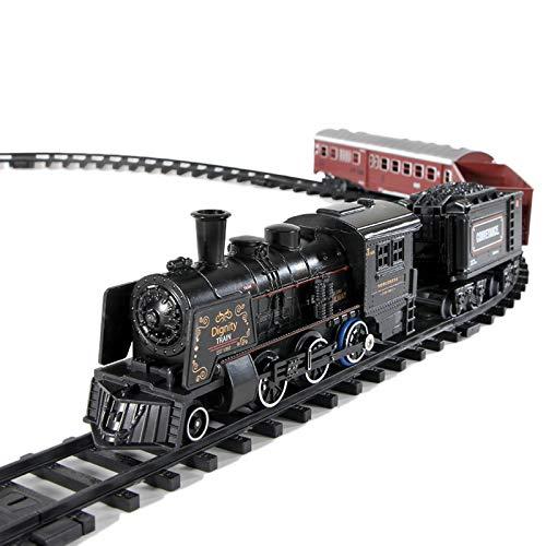 Huante Kids Simulation Steam Train Electric Train Toy Set Alloy Train...