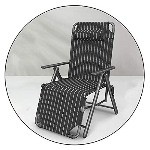 Tumbona Plegable reclinable FVGBHN, Rejilla de Tubo Grueso y Tela Oxford Transpirable, con reposacabezas, Tumbona Ajustable en Varias Posiciones, Tumbona portátil para jardín al Aire Libre (