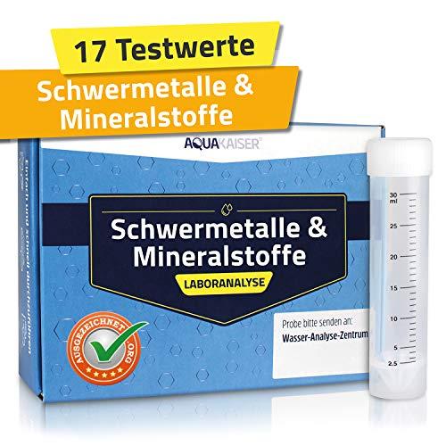Wassertest auf Schwermetalle, Mineralstoffe, Wasserhärte und andere chemische Stoffe – inkl. Test-Set und Laboranalyse