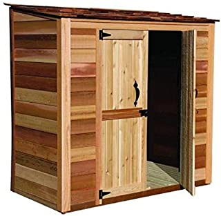 cedar lean to shed