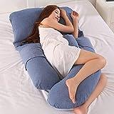 AEIL Cuscino a forma di G per donna incinta, per dormire, rimovibile, multifunzione, silenzioso e confortevole, ergonomico
