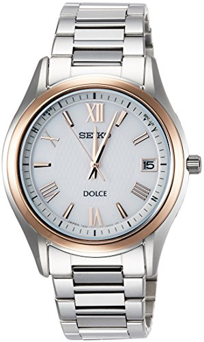 [セイコーウォッチ]腕時計ドルチェソーラー電波チタンモデルホワイト文字盤SADZ200メンズシルバー