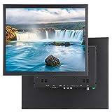 Monitor portátil de 17 pulgadas para PC, monitor de computadora con pantalla táctil resistiva de 1024 x 768, soporte integrado y montaje en pared para PC/CCTV/videocámaras/computadoras Pantalla(UE)