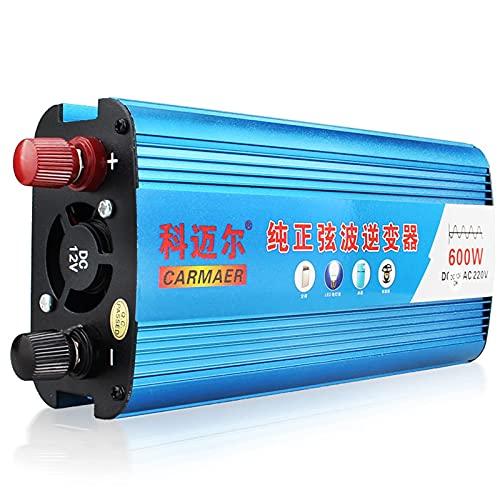 FHISD Pure Sine Wave Car Inverter 600w DC 12v24v48v60v To AC 220 Car Power Inverter V Power Converter for RV Truck Road Travel Emergency Tools Power 600W48V