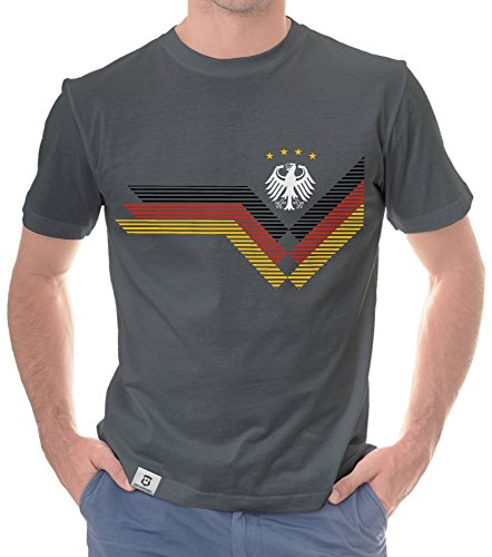 Herren T-Shirt - Deutschland WM dunkelgrau-Weiss XXXL