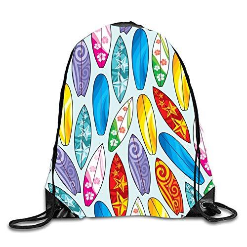 uykjuykj Sac à dos élégant motif floral avec cordon de serrage, sac de sport imperméable pour homme et femme, conçu par Leaves3, léger, unique 43,6 x 35,6 cm