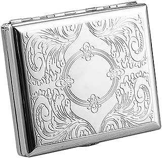 Cigarette Case for 20 pcs Popular Size (84mm) Classic Silver
