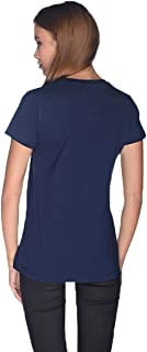 Creo Death Skull T-Shirt For Women - L, Navy