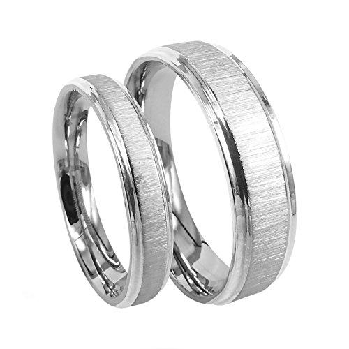 Everstone Titan Ringe Eheringe Titan Silberne Ringes Verlobungsringe Größe: 47-76