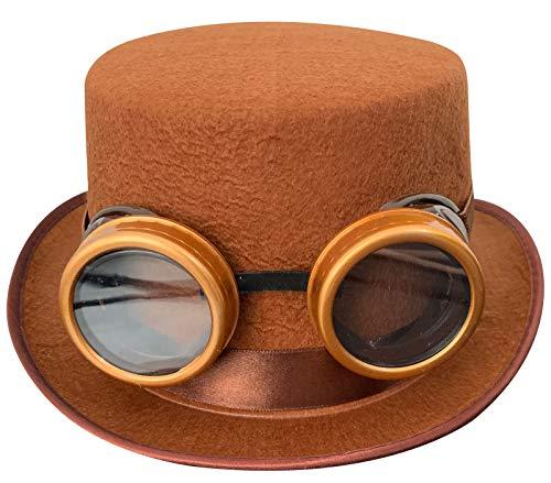 Labreeze Kinder-Brille, Velours, Kunststoff, Braun, Willy Wonka Kostüm Set