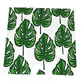 RETRUA Servilletas de mesa de tela de hoja de plátano verde, 6 unidades, servilletas de cocina,...