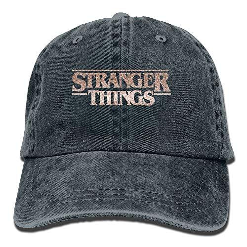 MERCHA Blush Stranger Things Men's Black Adjustable Vintage