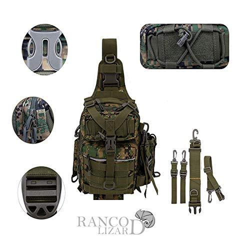 Kamilan Ranco Lizard Angeltasche/Rucksack, wasserfest, Camouflage, 11.8 * 8.3 * 3.9