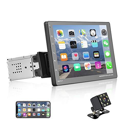 NHOPEEW Autoradio Singolo Din Con D-Play Autoradio Touch Screen da 9 Pollici Lettore MP5 Con Bluetooth / FM / USB / AUX, Collegamento Specchio Telefono + Fotocamera Di Backup