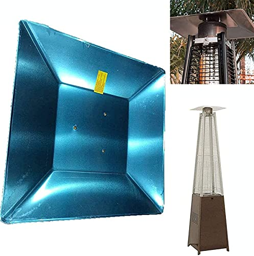Accesorios de Repuesto Para Calefactores de Patio,Pantalla Reflectora de Enfoque Térmico de 3 Orificios Pantalla Protectora Reflector de Pantalla Térmica de 4 Lados Para Gas Natural y Propano,Silver(holedistance11cm)