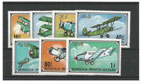 Briefmarken für Sammler - 1976 Flugzeuge Doppeldecker Flugzeuge Postfrisch stempel-satz / Mongolei SG1014 - 1020