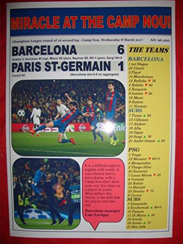 Barcelona 6 PSG 1 - Liga de Campeones 2017 - impresión de...