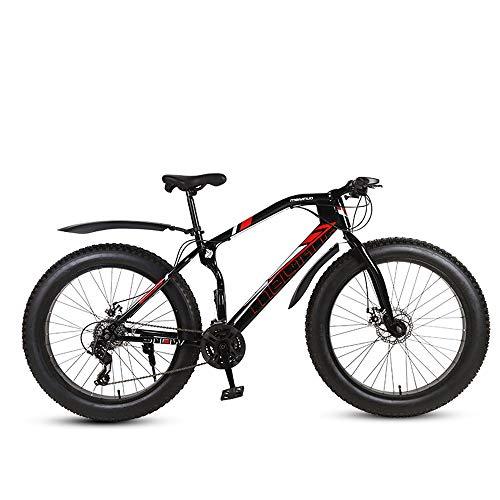 Nerioya Erwachsenen-Mountainbike, 26-Zoll-Doppelscheibenbremsen Mit 21 Bis 27 Gängen, Breites Geländewagen Mit Variabler Geschwindigkeit/Snowbike/ATV,E,26 inch 27 Speed
