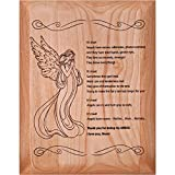Smoky Tree I Love You Mom Wall Art 7'x9' Alder Wood Plaque, Gifts for Mom from Daughter or Son Meaningful Engraved Poem with Angel, Mother of The Bride Gift Idea, Mom Birthday Gifts (Angel)