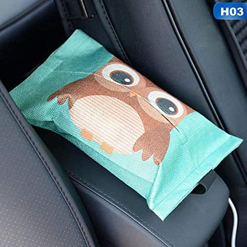 LinZX Cartoon-Tuch Autositz zurück hängende Speicher Gewebe Fall-Kasten-Behälter-Tuch-Serviette-Papiere Beutel-Halter-Kasten-Kasten,H03