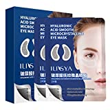 Micro Needle Eye Patches with Hyaluronic Acid Microneedle Eye Mask for Fine Lines Wrinkles Smile Lines Dark Circles-2 pairs (4 pieces)