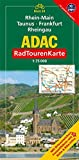 ADAC Radtourenkarte Rhein-Main, Taunus, Frankfurt/Main, Rheingau: 1:75000 -