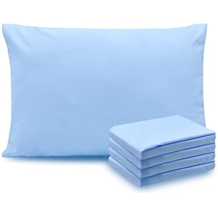 Soft Brushed Microfiber Pillowcase Standard//Queen Size Pack of 4 Wrinkle Free Fade Resistant Microfiber Pillow Case with Envelope Closure Blue
