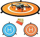 YUNIQUE FRANCE- Tapis D'atterissage Portable pour Les Drones RC, Hélicoptère DJI Mavic Pro, 3 Phantom 4, Inspire 1 et Quadcopters Apron Helipad 30'(75cm) Pli Rapide, 9Z-3ZUE-AV67