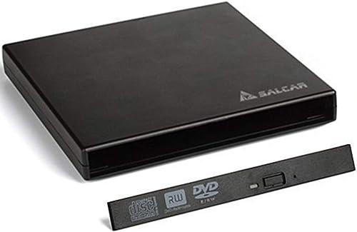Salcar - Boîtier de Disque Dur Externe Slimline SATA USB2.0 (boîte Externe Super Drive Caddy) Plug & Play pour 12.7mm...