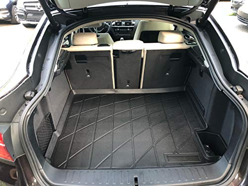 Rear Trunk Liner Tray Mat Pad for BMW X4 F26 G02 2015 2016 2017 2018 Floor Cargo Cover Protection Dirt Mud Snow All Weather Season Waterproof WaterResistant 3d Laser Measured Custom Fit