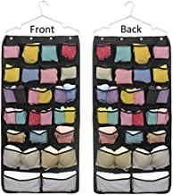 Geboor Hanging Closet Organizer, Dual-Sided Space Saving Storage Holder with 42 Pockets for Stockings Socks Underwear Jewelry Ties (42 Pockets)