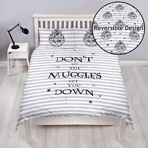 Harry Potter Spell Double Duvet Cover Set | Don't Let The Muggles Two Sided Reversible Design